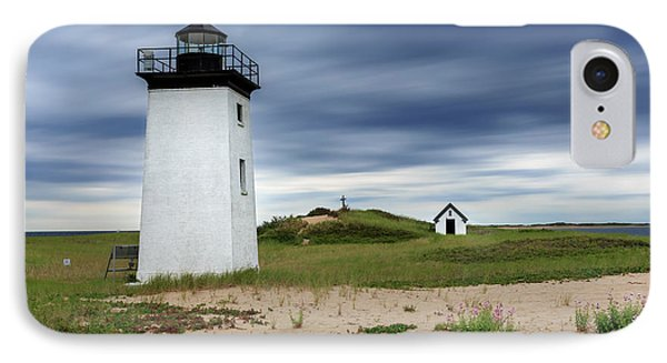 Cape Cod Long Point Lighthouse IPhone Case by Bill Wakeley