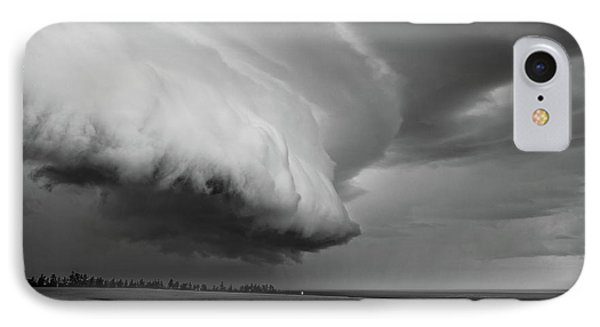 Cape Tyron Vortex Black And White IPhone Case by Edward Fielding