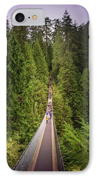 Capilano Suspension Bridge, North Vancouver, Canada IPhone Case by Art Spectrum