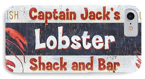 Captain Jack's Lobster Shack IPhone 7 Case by Debbie DeWitt