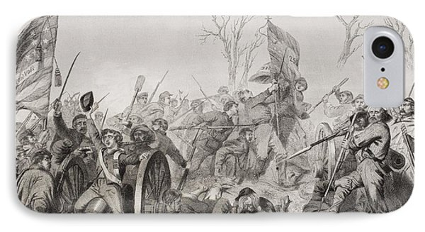 Capture Of A Confederate Flag At Battle IPhone Case by Vintage Design Pics
