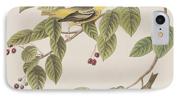 Carbonated Warbler IPhone 7 Case by John James Audubon