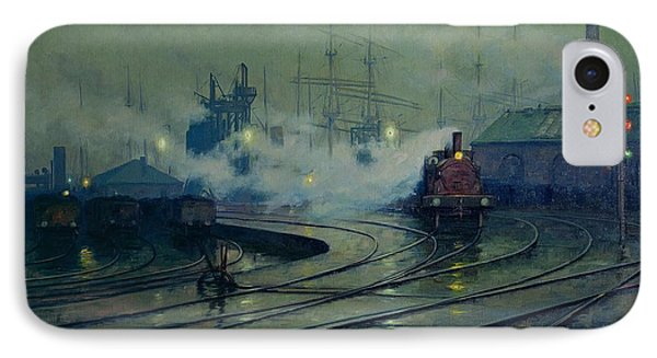 Cardiff Docks IPhone 7 Case by Lionel Walden