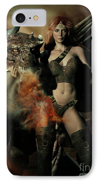 Careful He Burns IPhone Case by Shanina Conway