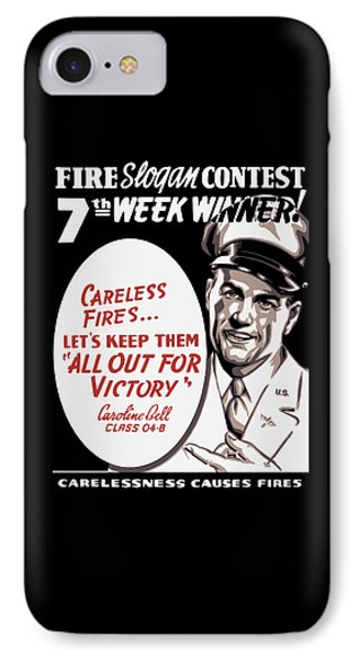 Carelessness Causes Fires IPhone Case by War Is Hell Store