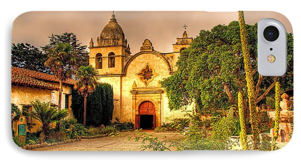 Carmel Mission IPhone Case by Maria Coulson