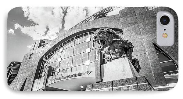 Carolina Panthers Stadium Black And White Photo IPhone 7 Case by Paul Velgos