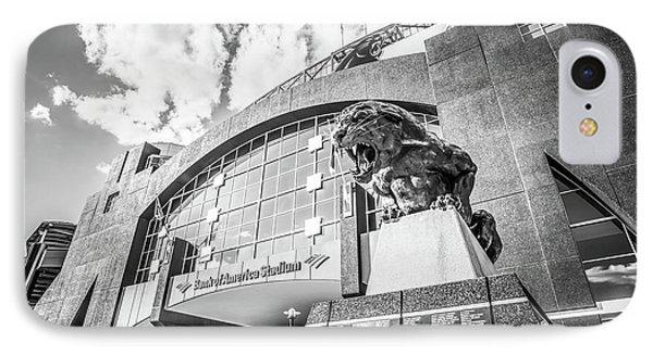 Carolina Panthers Stadium Black And White Photo IPhone Case by Paul Velgos