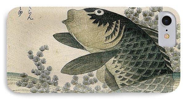 Carp Among Pond Plants IPhone 7 Case by Ryuryukyo Shinsai