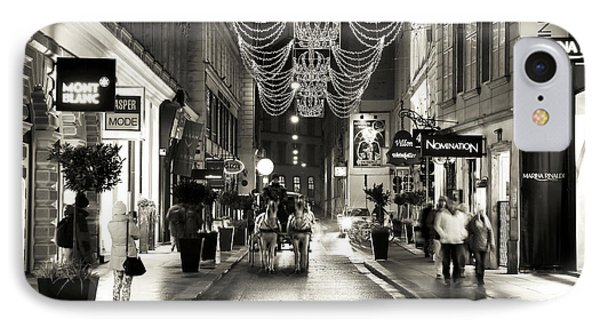 Carriage Ride Down The Street IPhone Case by John Rizzuto