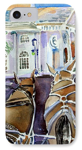 Carriage Ride In Charleston IPhone Case by Mindy Newman