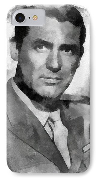 Cary Grant Actor IPhone Case by Esoterica Art Agency