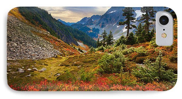 Cascade Pass Fall IPhone Case by Inge Johnsson