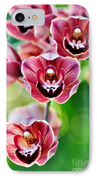Cascading Miniature Orchids Phone Case by Kaye Menner