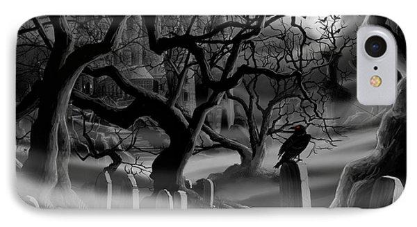 Castle Graveyard I Phone Case by James Christopher Hill