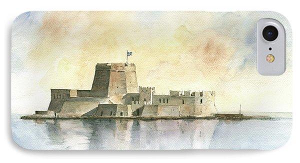 Castle Of Bourtzi In Nafplio IPhone 7 Case by Juan Bosco