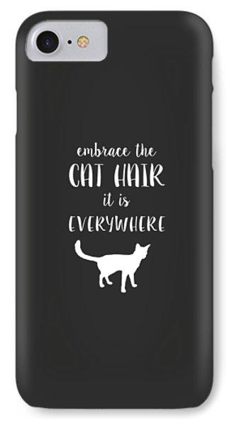 Cat Hair IPhone Case by Nancy Ingersoll