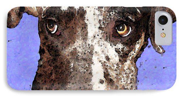 Catahoula Leopard Dog - Soulful Eyes IPhone Case by Sharon Cummings