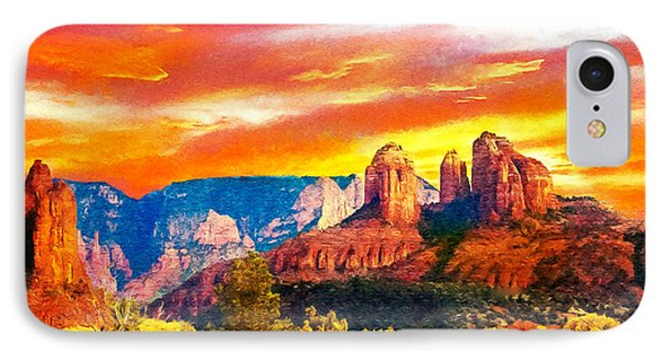 Cathedral Rocks Red Rock State Park IPhone Case by Dr Bob Johnston