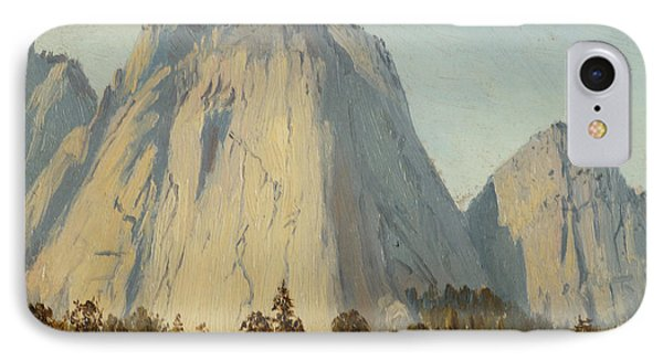 Cathedral Rocks  - Yosemite Valley IPhone Case by Celestial Images
