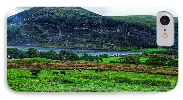 Cattle Grazing At Buttermere Phone Case by Joan-Violet Stretch