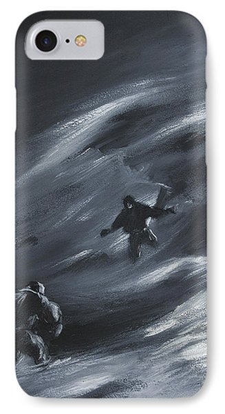 Caught In A Blizzard IPhone Case by Edward Adrian Wilson