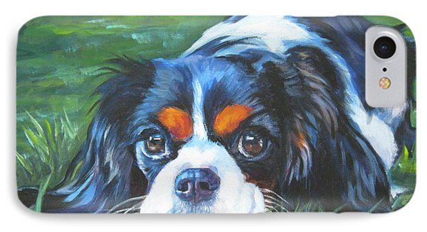 Cavalier King Charles Spaniel Tricolor IPhone Case by Lee Ann Shepard