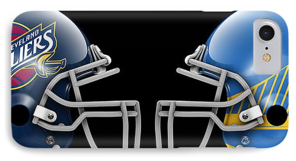 Cavaliers Warriors What If Its Football IPhone Case by Joe Hamilton