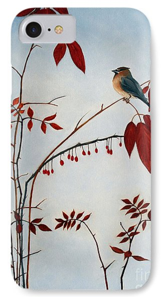 Cedar Waxwing IPhone Case by Laura Tasheiko