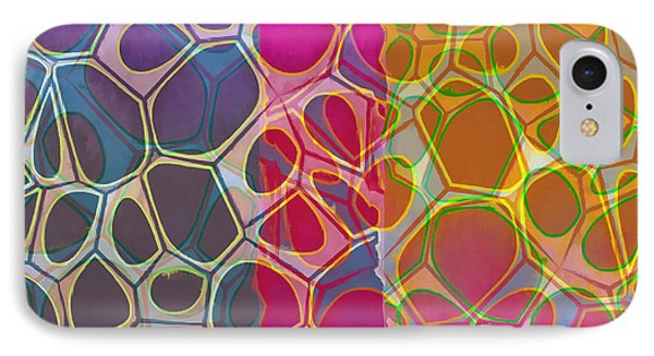 Cells 10 Abstract Painting IPhone Case by Edward Fielding