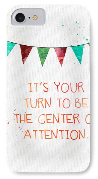 Center Of Attention- Card IPhone Case by Linda Woods