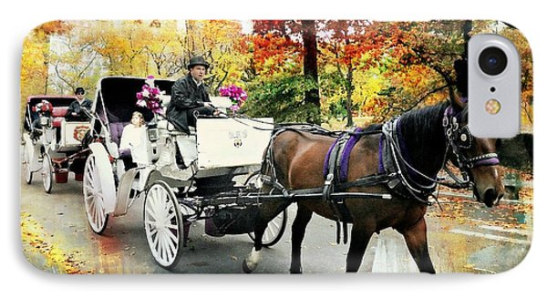 Central Park Carriage IPhone Case by Diana Angstadt