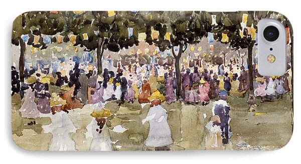 Central Park  New York City  July Fourth  IPhone Case by Maurice Prendergast