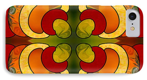 Centrally Located Abstract Art By Omashte IPhone Case by Omaste Witkowski