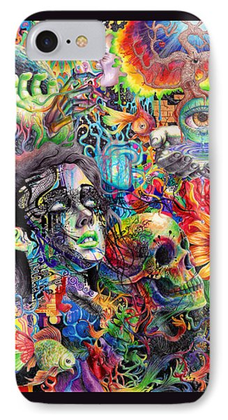 Cerebral Dysfunction IPhone Case by Callie Fink