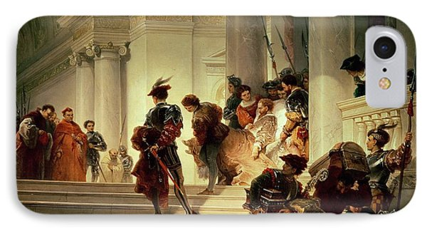 Cesare Borgia Leaving The Vatican IPhone Case by Giuseppe Lorenzo Gatteri