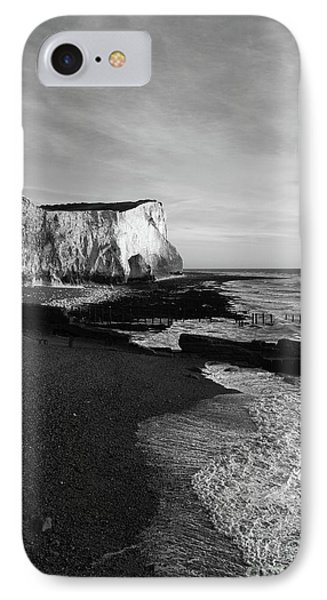 Chalk Cliffs At Seaford Head England IPhone Case by James Brunker