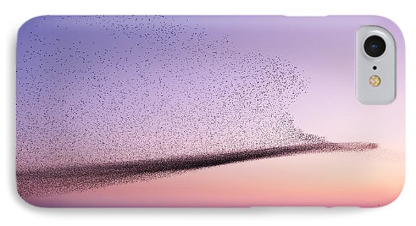 Chaos In Motion - Starling Murmuration IPhone Case by Roeselien Raimond