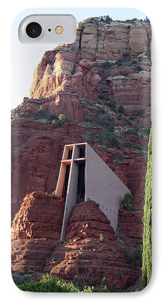 Chapel Of The Holy Cross IPhone Case by Ellen Henneke