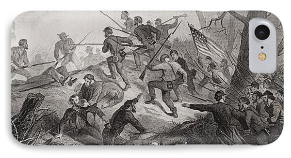 Charge On Fort Donelson Tennessee 1862 IPhone Case by Vintage Design Pics