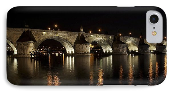 Charles Bridge At Night Phone Case by Michal Boubin