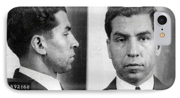 Charles Lucky Luciano Mug Shot 1931 Horizontal IPhone Case by Tony Rubino