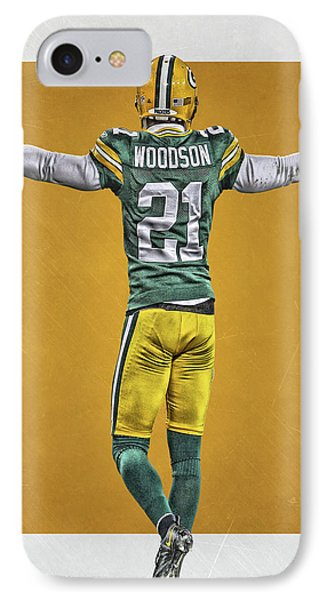 Charles Woodson Green Bay Packers Art 2 IPhone Case by Joe Hamilton