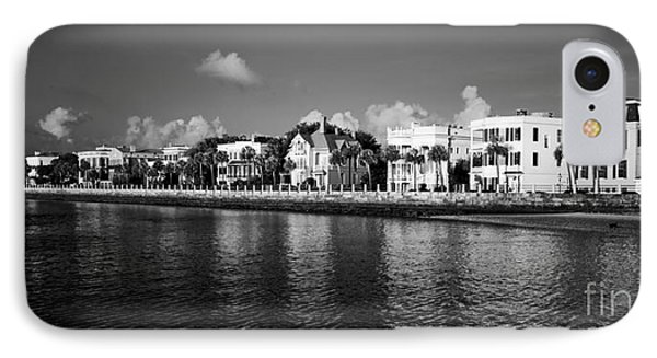 Charleston Battery Row Black And White Phone Case by Dustin K Ryan