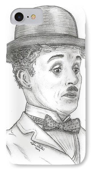 Charlie Chaplin IPhone Case by Steven White