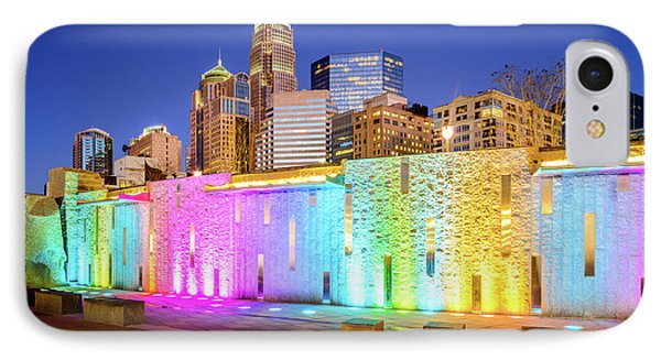 Charlotte At Night Blue Dusk Sky Photo IPhone Case by Paul Velgos