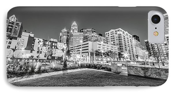 Charlotte City Black And White Photo IPhone Case by Paul Velgos