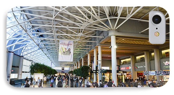 Charlotte Douglas International Airport Terminal IPhone Case by David Oppenheimer