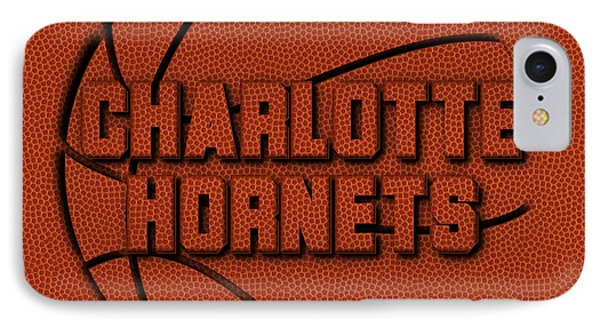 Charlotte Hornets Leather Art IPhone Case by Joe Hamilton