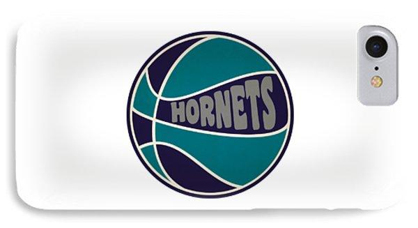 Charlotte Hornets Retro Shirt IPhone Case by Joe Hamilton